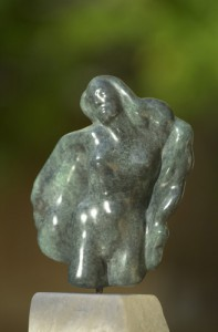 sculpture de Dominique Rivaux en bronze - volupté