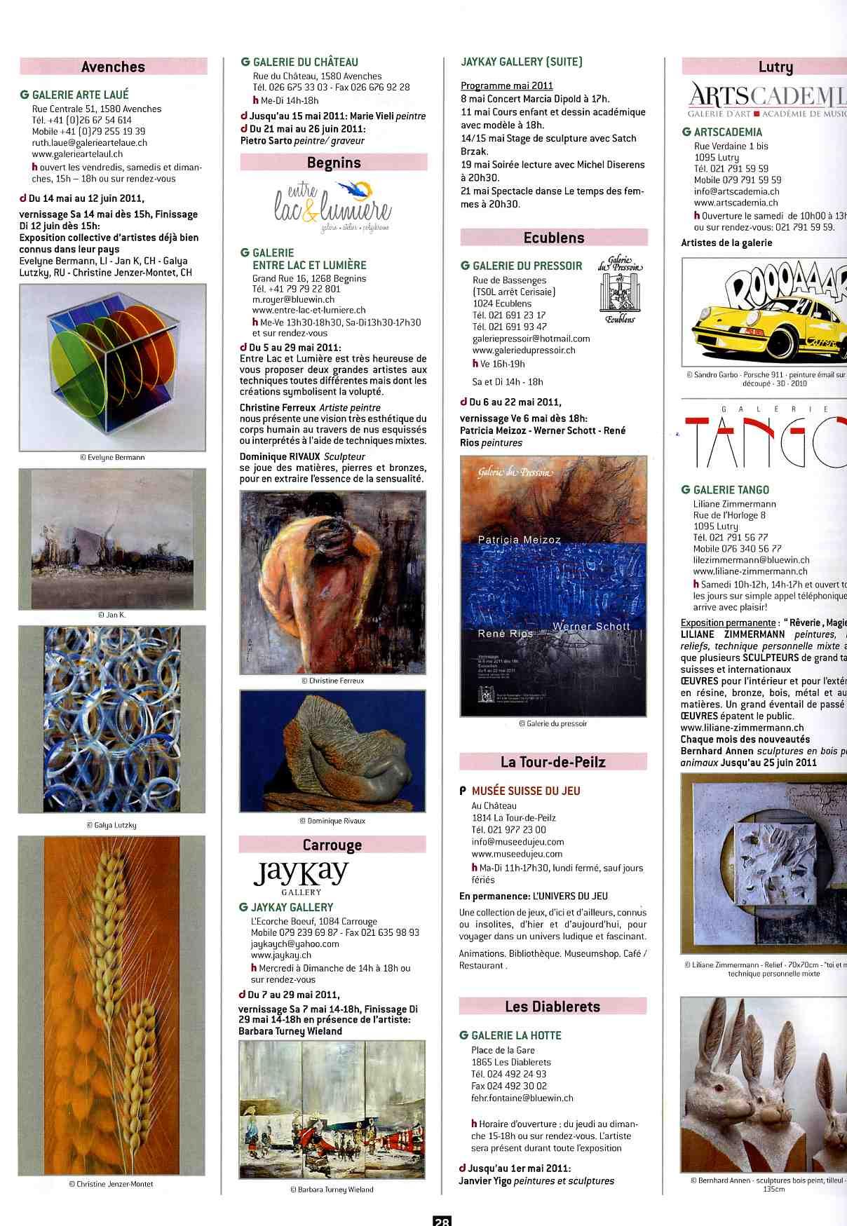 Magasine d'art - Accrochages 2011
