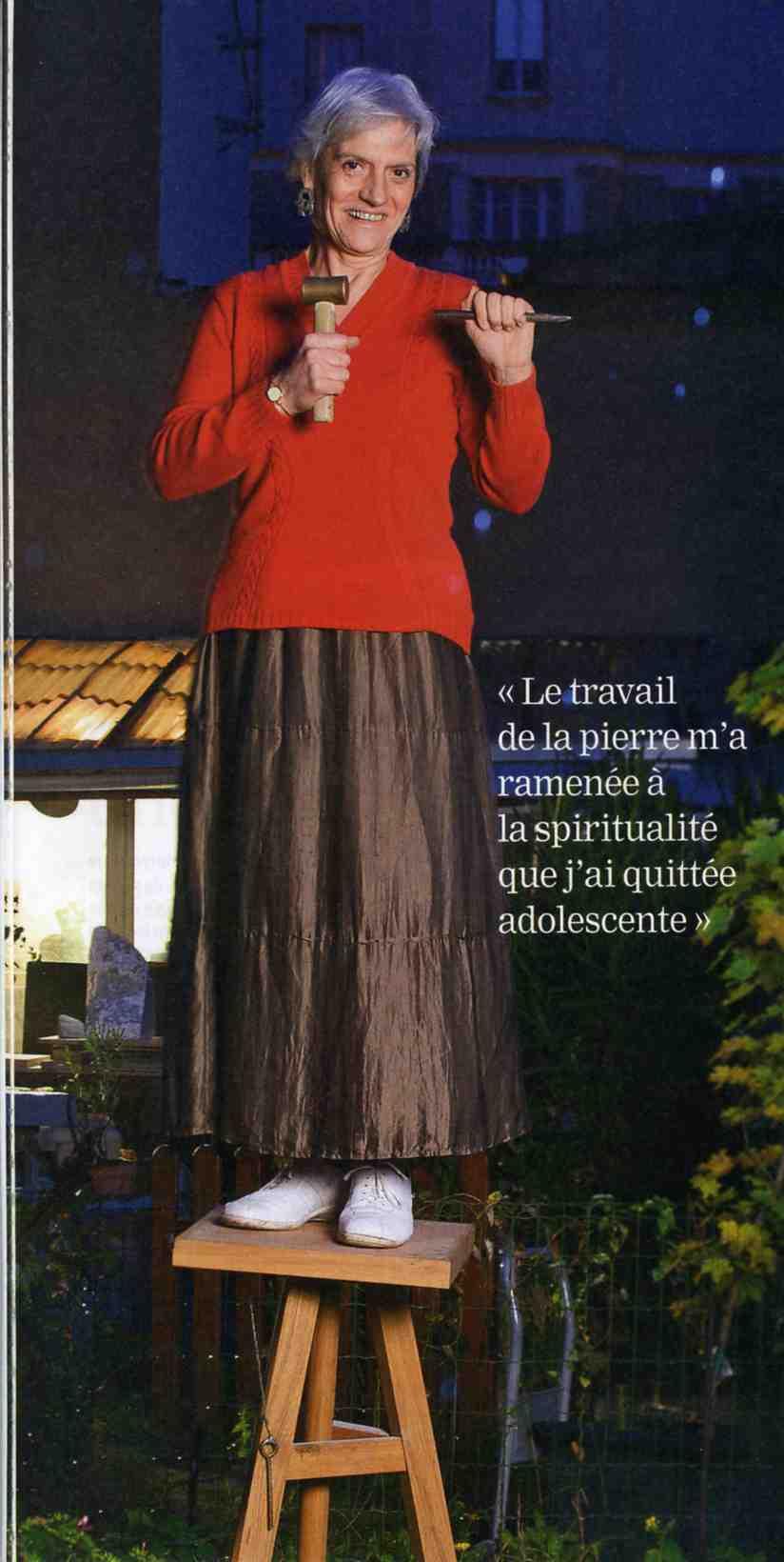 """Sculpter est ma prière - Article de """"La Vie"""" par Martine PERRIN 2009"""