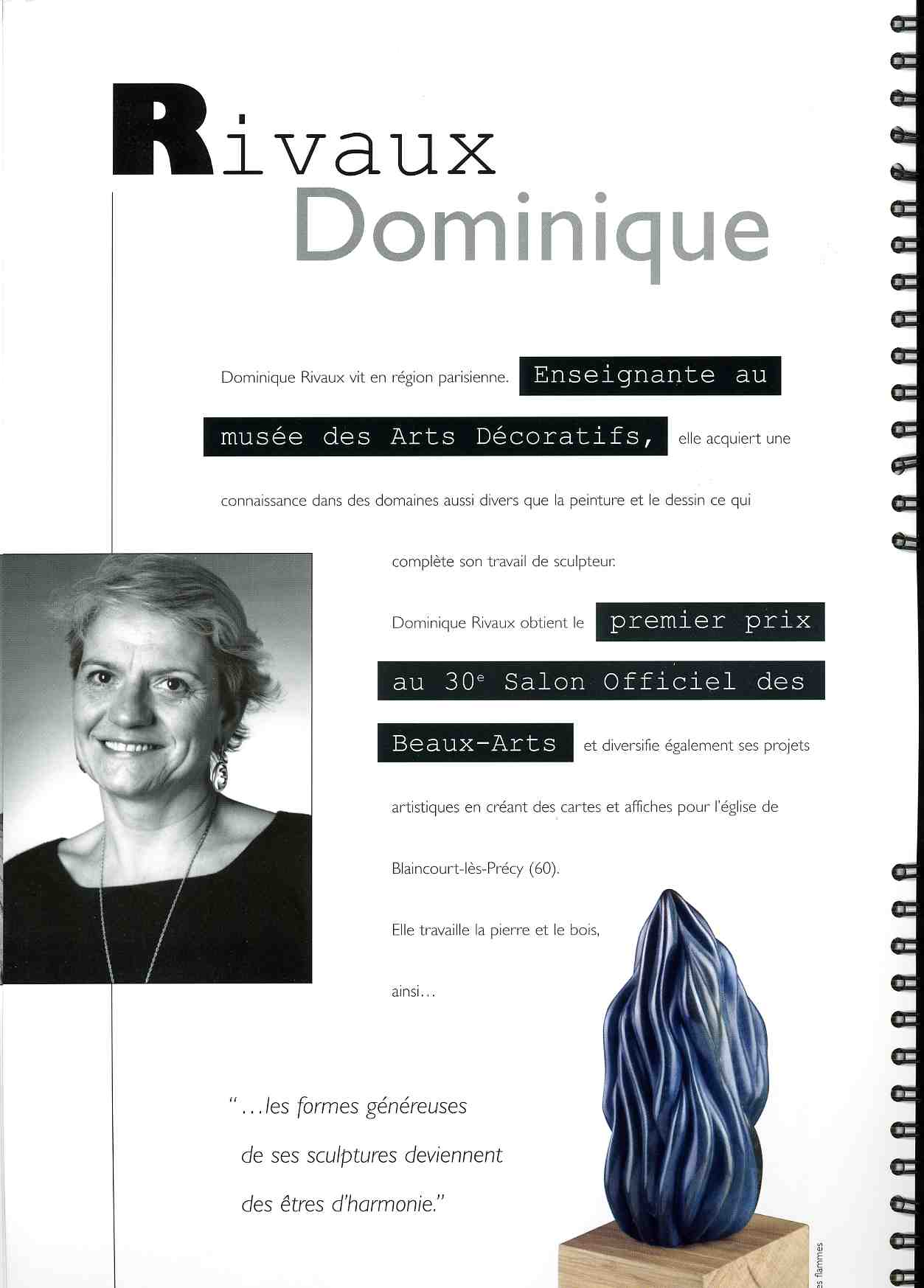 Catalogue Mécénat - OFILVAMO 2000-2006 - Dominique Rivaux