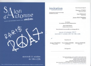 Invitation Vernissage SALON D'AUTOMNE - 2017