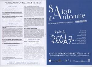 Programme Culturel - SALON D'AUTOMNE 2017