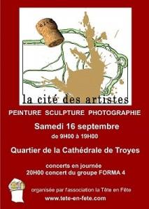 Affiche La Cité des Artistes à Troyes 2017