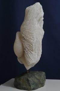 Sculpture en albâtre du Brésil - Baiser de Paix