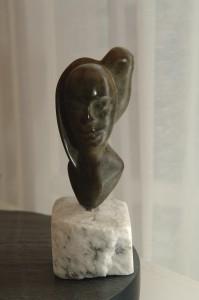 Jour et Nuit en bronze - sculpture