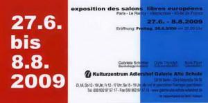 Salons Libres Européens - 2009 - Dominique Rivaux