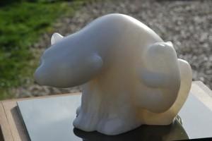 Sculpture d'ours de Dominique Rivaux - Partage