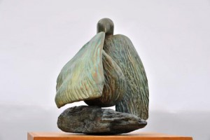 Sculpture de Dominique Rivaux - oiseau colombe - symbole - paix