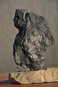 Profil - aile - Ange - sculpture en Marbre des Pyrénées