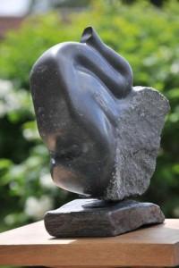 sculpture d'éléphant - jeune éléphant - éléphanteau - trompe - Dominique Rivaux