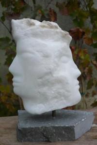 sculpture de la tête - visage - profil - Dominique Rivaux