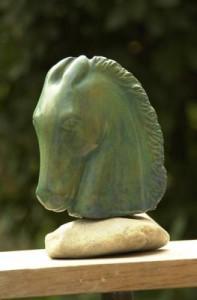 tête de cheval en bronze