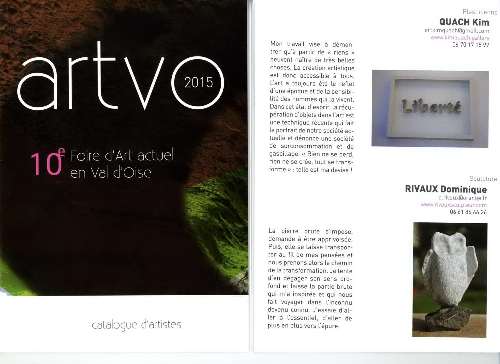 Artvo - 10e Foire d'Art actuel en Val d'Oise - 2015