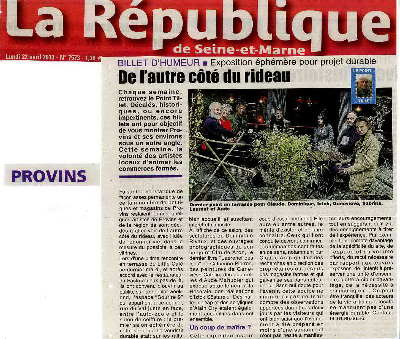 """La République de Seine-et-Marne - """"Galeries Éphémères"""""""
