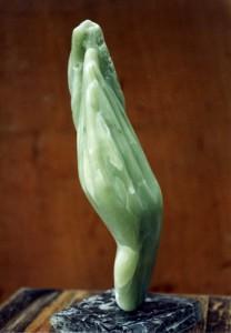 Mains - flammes - Prométhée -sculpture de Dominique Rivaux