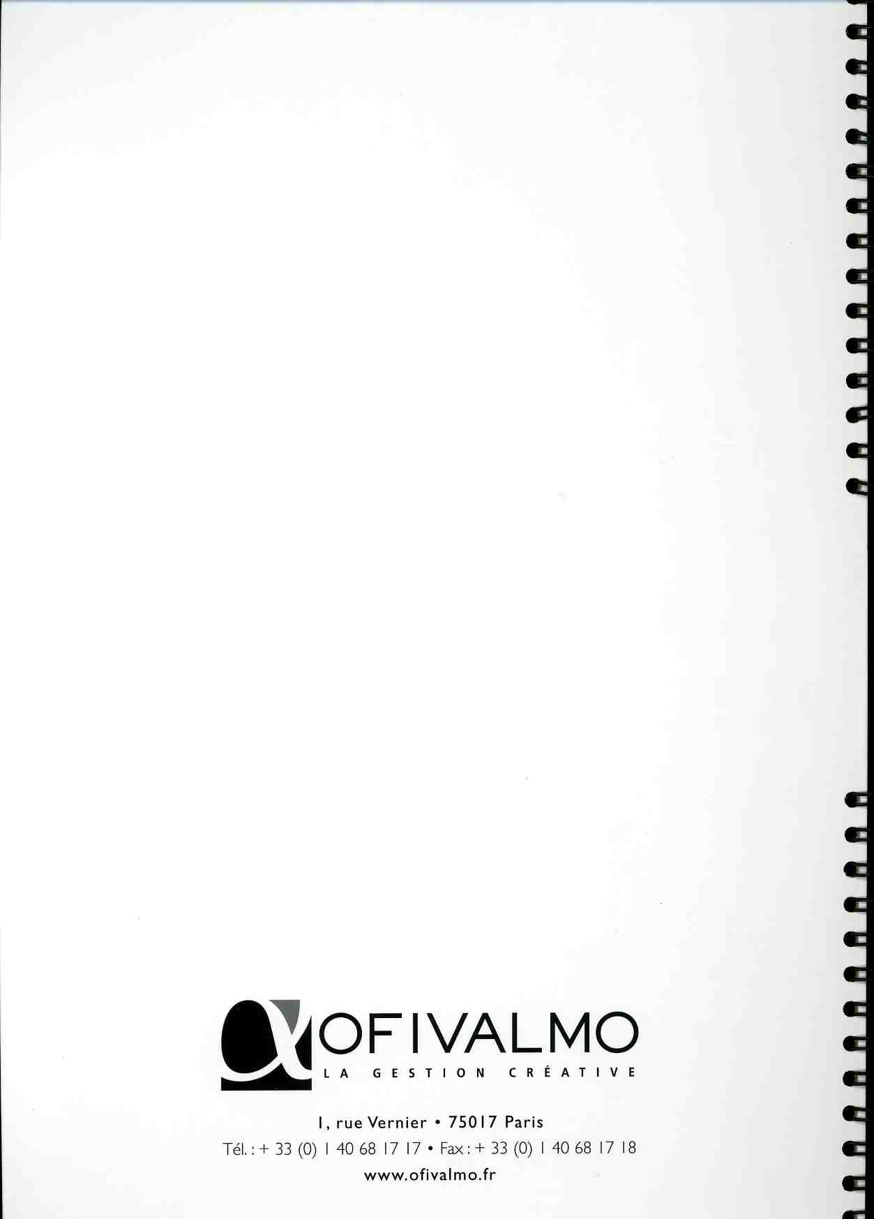 Catalogue Mécénat - OFILVAMO 2000-2006