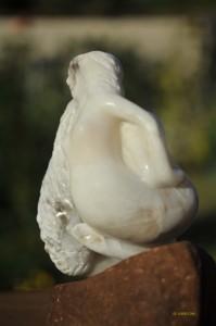 sculpture d'un homme - d'une femme - sirène - Ulysse - mythologie - Dominique Rivaux