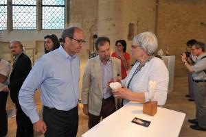 avec E. Woerth et E. de Mortemart - exposition a Senlis