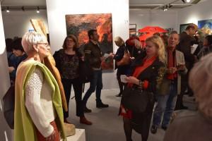 Dominique Rivaux et sa sculpture Quand le Blé