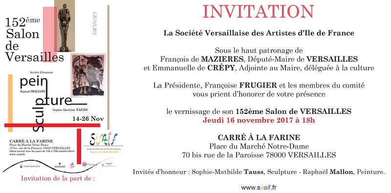 carton d'invitation - Salon de Versailles