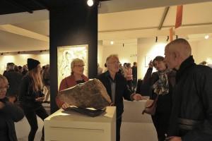 Sculpteur Dominique Rivaux pendant Salon d'Automne 2018