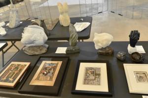 Sculptures de Dominique Rivaux pendant le Festival d'Art Sacré de Senlis