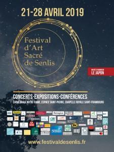 Affiche du Festival d'art sacré à Senlis