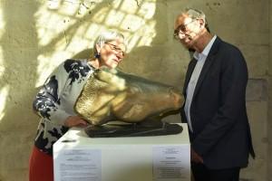 Sculpture tête de cheval - expo à Senlis - Rivaux - Éric WOERTH