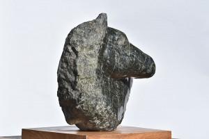 Tête de cheval - sculpture en serpentine de Corse - Dominique Rivaux