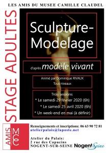 Affiche Stage Modèle vivant organisé par Dominique Rivaux