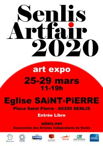 Affiche Senlis Artfair 2020 - Dominique Rivaux