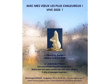 Voeux 2020 - Dominique Rivaux - sculpteur