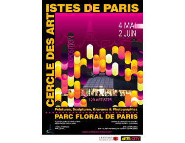 Affiche de l'exposition Cercle des Artistes de Paris 2020