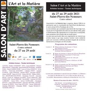 Flyer de l'exposition L'Art et la Matière 2021