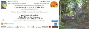 Invitation au vernissage de l'Art et la Matière 2021