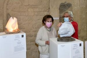 Sculpteur Dominique Rivaux avec ses sculptures - Artfair 2021