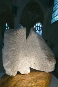 Sculpture de Dominique Rivaux - exposition dans l'église Saint-Pierre à Senlis