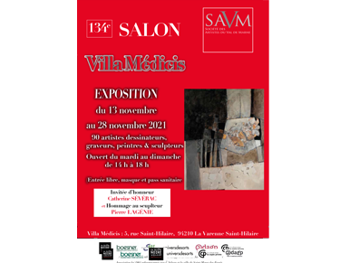 Affiche du Salon SAVM 2021 - Sculpteur Dominique Rivaux